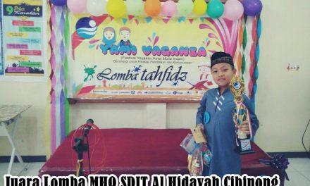 Kejuaraan MHQ Juz 30 oleh Siswa SDIT Al Hidayah Cibinong di Yayasan Amal Mulia Insani Depok